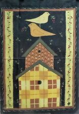 """Quilted Birdhouse Standard House Flag by Toland 28"""" x 40"""", Colorfast! #7077"""