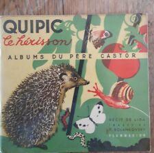 """Lot de 3 albums du Père Castor- """"le roman des bêtes"""" quipic - froux - martin"""