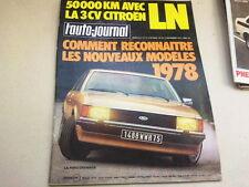 """REVUE  """" L' AUTO JOURNAL """" N° 16  ANNEE  1977  *"""
