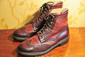 """Herring Shoes """"Coniston"""" Burgundy Bi-Color Boots UK9.5/US10.5 Cheaney / C&J"""
