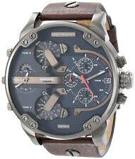 Diesel Men's DZ7314 Mr. Daddy 2.0 Chronograph 4 Time Zones Brown Leather Watch