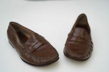 KROLL Damen Schuhe Slipper Mokassins Italy Gr.37,5 Leder braun TOP #4