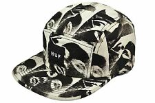 HUF GFE 5 PANEL CAP BLACK ADJUSTABLE DEADSTOCK SUPREME UNDEFEATED MADE IN USA