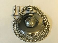 Bowling Ball TG251 Pewter on a Silver Pocket Watch Quartz fob
