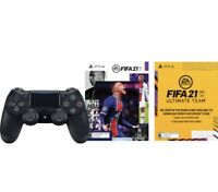 Sony PlayStation 4 DualShock 4 Wireless Controller Black New EA FIFA 21 Bundle