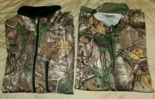 2 Men Realtree Xtra Full Zip Jacket Shirt Size XL