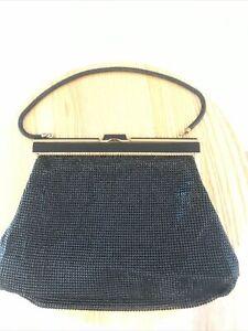 Handbag Black CLUTCH  By OROTON GLOMESH 1964 Collector Perfect Condition Ref:O77