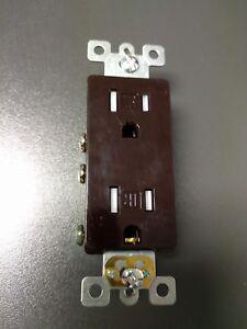 50 pc 15A Decorator Duplex Receptacles 15 Amp Tamper Resistant BROWN Decora TR