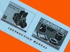 ENGLISH MANUAL for SALUT-S camera & ACCESSORY medium format 6x6 film NEW BOOKLET