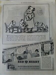 1936 Red Heart dog food doggone quintuplets Fell Stolp Imock art vintage ad