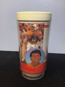 Vtg.1986-NFL Tampa Bay Buccaneers Plastic Coffee Insulated Mug 10 oz-Steve Young