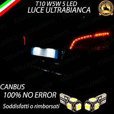 COPPIA LUCI TARGA 5 LED PER PEUGEOT 508 SW T10 W5W CANBUS 100% NO ERRORE