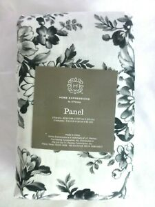 """JCP HOME EXPRESSIONS 2 PACK FRENCH TOILE PANEL  42""""W X 84"""" L BLK/WHITE $200 NEW"""