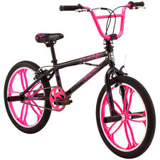 "20"" Mongoose Craze Freestyle Girls BMX Bike Rugged Steel Black Frame Bicycle New"