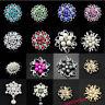 Fashion Flower Crystal Rhinestone Wedding Party Banquet Broach Brooches Pins