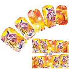 Tattoo Nail Art Aufkleber Löwe Tiger Muster Lion Nagel Sticker Neu!