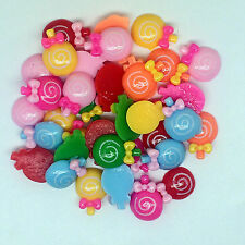 10pcs candy embellishment mix Resin Flatback ScrapbookIng for phone/craft