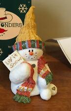 "Sarah's Attic Snowonders Figurine 1998- January ' Capper"" 6400"