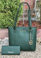 NWT Michael Kors Sady SM TZ Tote Leather Travel & Carryall Tote Bag +Wallet $600