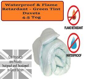 Duvet 4.5 Tog Single Double King Green Tint Wipe Clean Down Waterproof Quilt