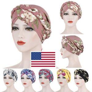 Muslim Women Braid Head Wrap Hijab Hair Turban Hat Cover Care Chemo Cap USA
