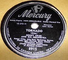 Mercury 8915 Sonny Criss Tornado / Blues For The Boppers 78 RPM E+ E+