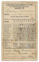 1922-23 School Report Card - ALICEVILLE SCHOOL (Alabama, USA) -  Ephemera