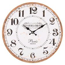 Wanduhr Uhr Küchenuhr Ø34 Paris Landhaus French Vintage Shabby Nostalgie Clayre