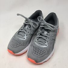 Asics GT-1000 Women's Size 6 Running Shoes T7A9N Gray Orange