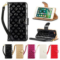 Luxury Fashion Flower Wrist Wallet Leather Case for iphone X XS max XR 7 8 plus