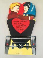 Vintage Valentine Moveable Arm - Model T Auto - Large