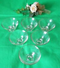 Vintage Set of 6 Clear Glass Sundae Sweet Dishes