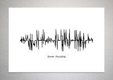 Doves - Pounding - Sound Wave Print Poster Art