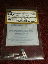 (5) ATC RF .9pF Capacitors Tol B 100B0R9BMS
