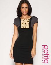 ASOS Bodycon Embellished Colourblock Dress, NWT, Size Petite UK8 = XS
