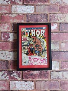 VINTAGE MARVEL COMICS FRAMED COMIC BOOK 1980 THOR MAN CAVE OFFICE BAR