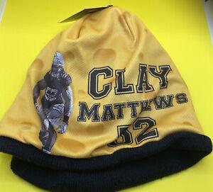 New NFLPA Green Bay Packers Clay Matthews beanie knit cap.