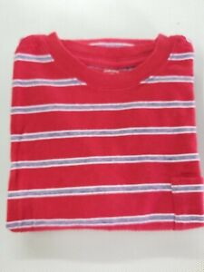 Faded Glory Boys Short Sleeve T Shirt Red Striped Size LARGE (10-12)