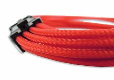 Red Sleeved 30cm 6+2 Pin Male to Female PCI-E Extension Braided Cable Graphics