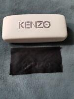 NEW KENZO White Sunglasses Eyeglasses Hard Case With Cloth c8a1ece986