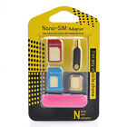 Nano SIM Card 5 IN 1 to Micro Standard Converter Adaptor Adapter Set for iPhone
