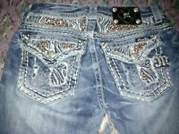 """Miss me jeans size 28 bootcut With Dazzles Embellish Ment 42"""" Inseam 34"""""""