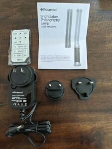 Power Cord, Remote & Manual  Polaroid BrightSaber Professional LED Lighting Wand