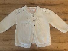 Euc Winter White Sweet Honey Cardigan Baby Sweater 0-6M
