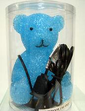 New Blue Teddy Bear Desk Table Glow Lamp Night Light Bears