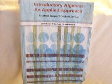 Introductory Algebra: An Applied Approach Student Support Custom Edition