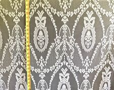 """Lace Curtain & Tablecloth Off White 58"""" Wide 100% Poly Fabric By The Yard"""