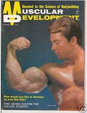 Muscular Development Bodybuilding Muscle Fitness Mag LARRY SCOTT w/poster 11-72