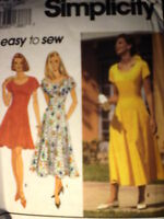 8345 UNCUT Simplicity Pattern Misses Dress 2 Lengths SEWING FF Casual OOP SEW
