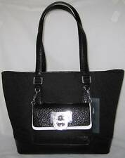 DKNY T&C French Grain Leather Logo Business Travel Tote Purse Small Pouch Bag